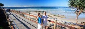 Caloundra Coastal Boardwalk. Enjoy an easy stroll through Kings Beach, Shelly Beach and Bulcock Beach